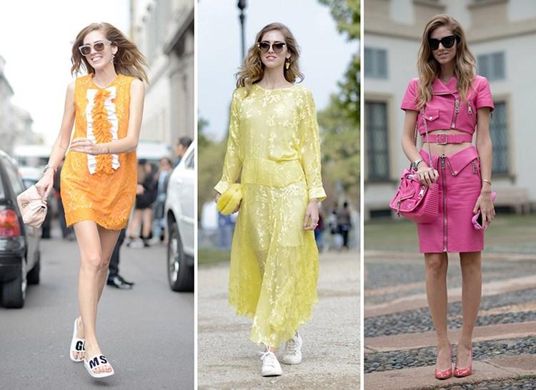 Chiara ferragni e suoi outfit